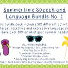 Summertime Speech and Language Bundle No. 1