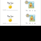 Sun Emergent Reader... a printable mini-book!