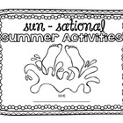 Sun-sational Summer Journal- Activities to keep learning a