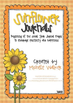Sunflower Journals: Back to School Journal Pages FREEBIE
