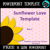 Sunflower Love Template FREE commercial and personal use