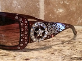 Sunglasses-Brown with Crystal Star