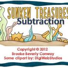 Sunken Treasure Subtraction Task Cards