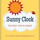 Sunny Clock Number Labels