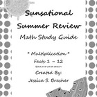 Sunsational Summer Review - Multiplication - Black and Whi