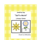 "Sunshiny Day ""Suffix Match"" Literacy Center"