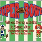 Super Bowl Math and Literacy Fun!