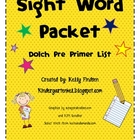 Super Fun Dolch Pre Primer Sight Word Packet
