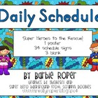 Super Hero Daily Schedule