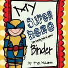 Super Hero Organizational Binder (Female Super Heroes)