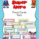 Super Hero Punch Card Pack
