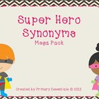Super Hero Synonyms Mega Pack Levels 1-4