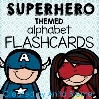 Super Hero Themed Alphabet Flashcards