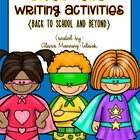 Super Hero Writing Activities {Back-to-School and Beyond}