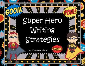 Super Hero Writing Strategy Posters 2