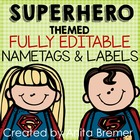 Super Heroes! Nameplates & Labels