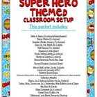 Super Heroes Themed Classroom Bundle