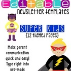 Newsletter Templates (12 included): Super Kids Hero Theme