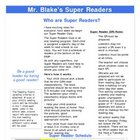 Super Reader Parent Letter