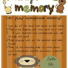 Super Safari Homophone Memory