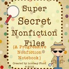 Super Secret Nonfiction Files {A Nonfiction Notebook Using