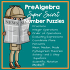 Super Secret Pre Algebra Puzzles