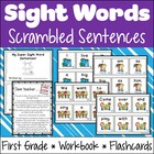 sailBTS Super Sight Word Sentence Scramble {Dolch First Grade}