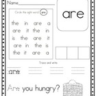 Super Sight Word Worksheets, Set 2