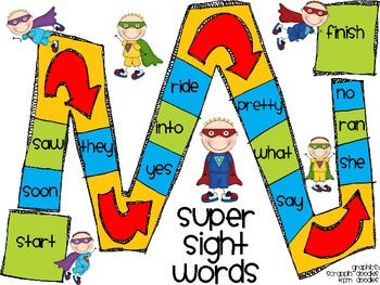 Super Sight Words Game (Primer-Dolch)