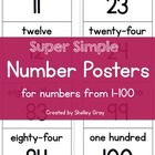 Super Simple Number Posters {for numbers from 1-100}
