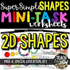 Super Simple Shape Worksheets, PreK-K, Special Education,