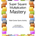 Super Square Multiplication Math Center/Game