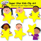 Super Star Kids Clip Art