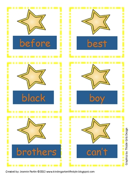 Super Star Words (Star Wars) - Word Wall (2nd grade)