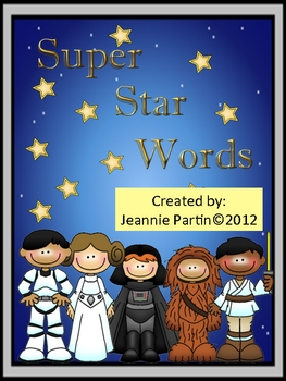 Super Star Words (Star Wars) - Word Wall
