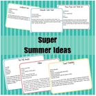 Super Summer Ideas