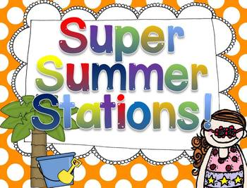 Super Summer Station Activities! {Math and Literacy Fun}