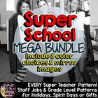 Super Teacher/Principal/Janitor Iron-On Pack - Great for C