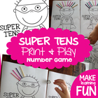 Super Tens - FREE Print and Play Math Number Game