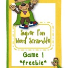 Super Word Scramble Game 1 *freebie (file folder game)
