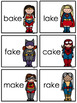 "Super ""e"" Heroes-A cvce Word Game"
