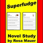 """Superfudge"" Printables Worksheets Reading comprehension"