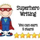 Superhero 5 Stars Writing Rubric