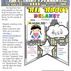 "Superhero ""All About Me Fact Sheet"" Class Pennant"