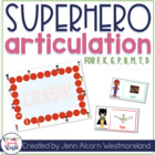 Superhero Articulation Cards for Speech Therapy {Early Dev