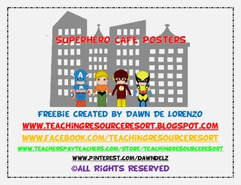 Superhero CAFE Header Freebie