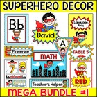 Superhero Kids Classroom Theme Bundle Part 1 - Name Labels