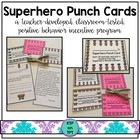 Superhero Punch Cards (Positive Behavior Incentive Program)