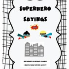 Superhero Sayings! Phrases to Increase Fluency