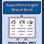 Superhero Sight Word Wall Folder